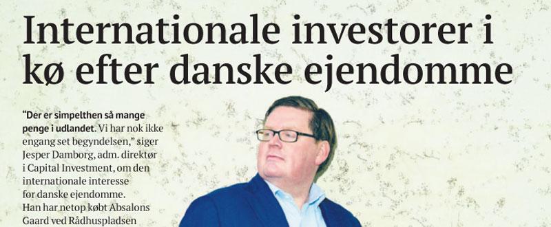 Internationale investorer i kø efter danske ejendomme